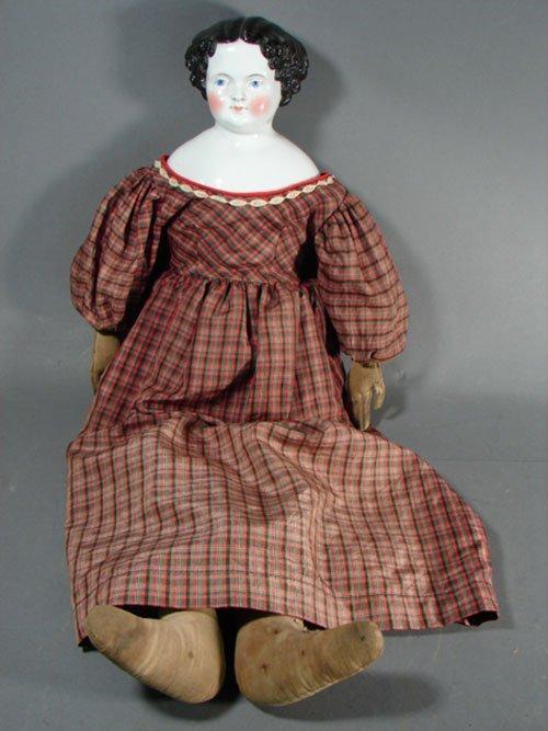 2011: Antique German Jenny Lind China Shoulder Head Dol