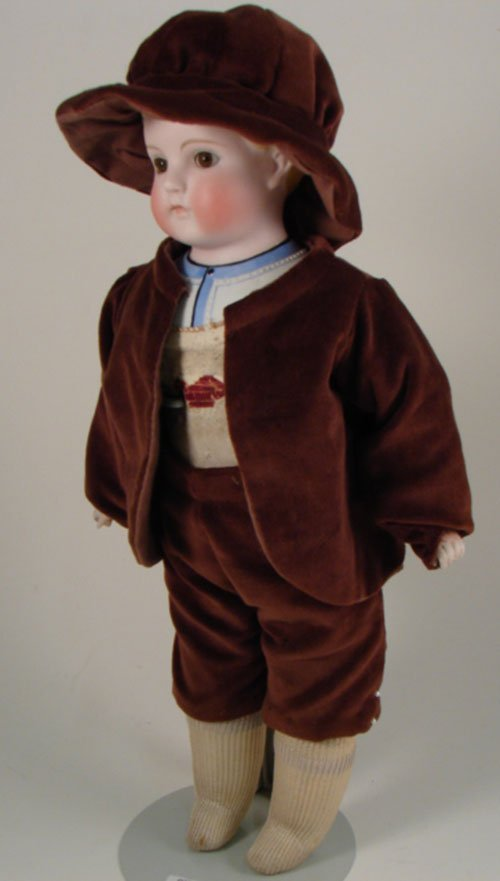 "2012: Rare Antique Parian Bisque Boy Doll. 14"". Set eye"