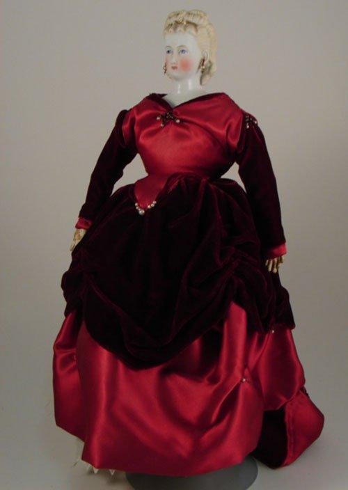 "2014: Antique Parian Bisque Fashion Doll 14"". Molded ha"