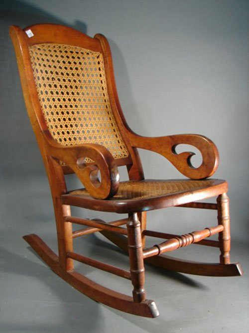 2017: Antique Child's / Doll Lincoln Arm Chair Rocker w