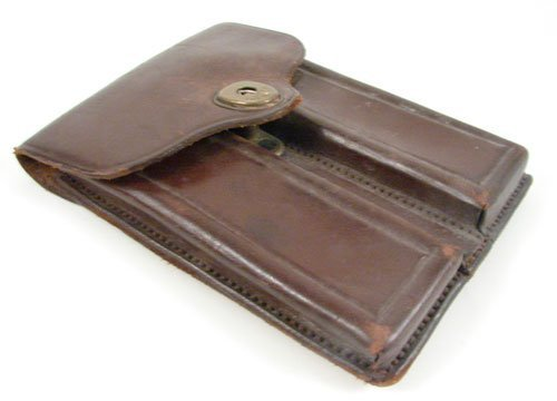 "2347: U.S. Leather Cartridge Holder. Marked ""Carr Fast."