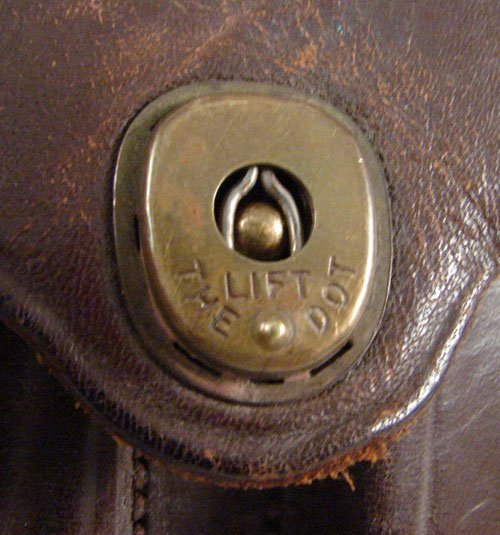 "2347: U.S. Leather Cartridge Holder. Marked ""Carr Fast. - 2"