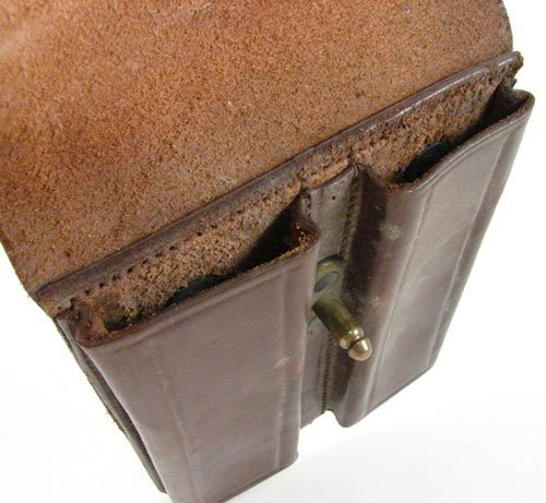 "2347: U.S. Leather Cartridge Holder. Marked ""Carr Fast. - 3"