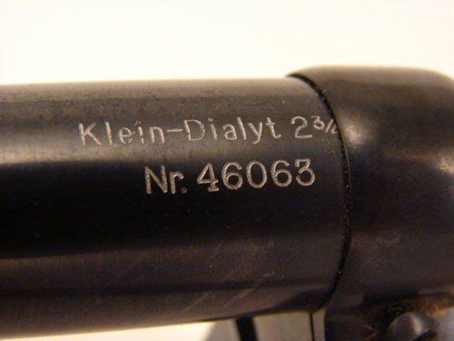 """2348A: Hensoldt Wetzlar Scope. Marked """"Klein - Dialyt 2 - 3"""