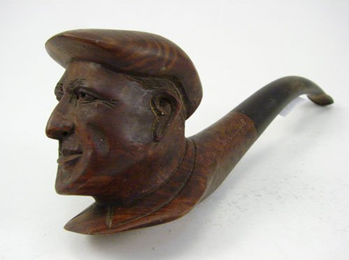 """1: Antique Hand Carved Briar Root Pipe. Signed """"St. Ger"""
