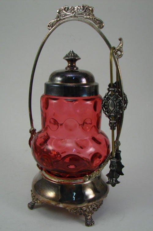 012C: Benedict Antique Silverpate Pickle Caster