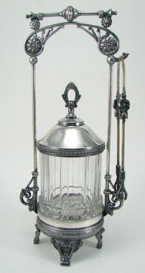 012D: Rogers Smith Victorian Silverplate Pickle Caster