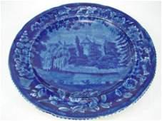 167: E. Wood & Son Historical Staffordshire Flow Blue P