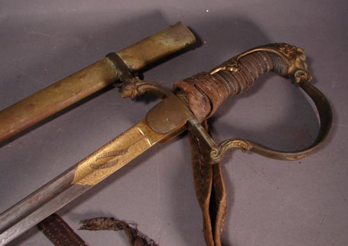 318: German WWI Military Sword with scabbard and tassel