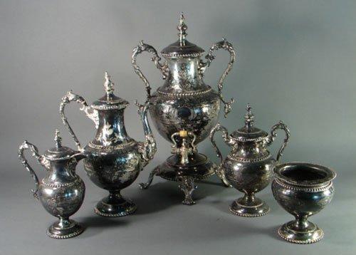 2008: Meriden Britannia Co 5pc Silver Plate Coffee Tea