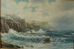 2100: W.T. Richards Original Watercolor Painting Seasca