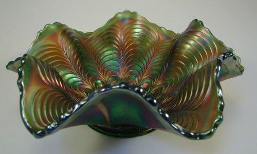 "2: Carnival glass bowl. 2 1/2""h x 7"" diameter"