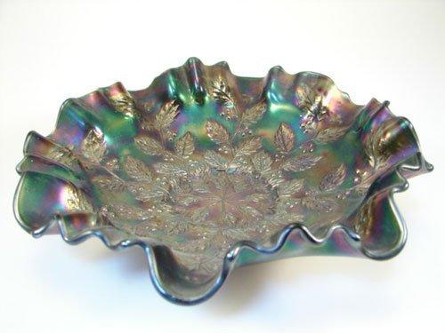 "5: Carnival glass bowl. 2 1/2""h x 9"" diameter"