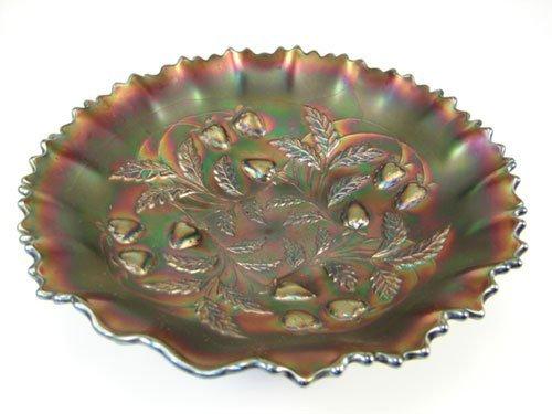 "7: Carnival glass dish. 2 1/2""h x 8 1/2"" diameter"