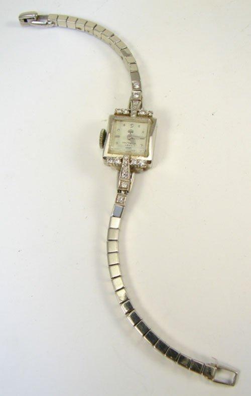 14: Ladies Hamilton 14k White Gold and Diamond Wristwat