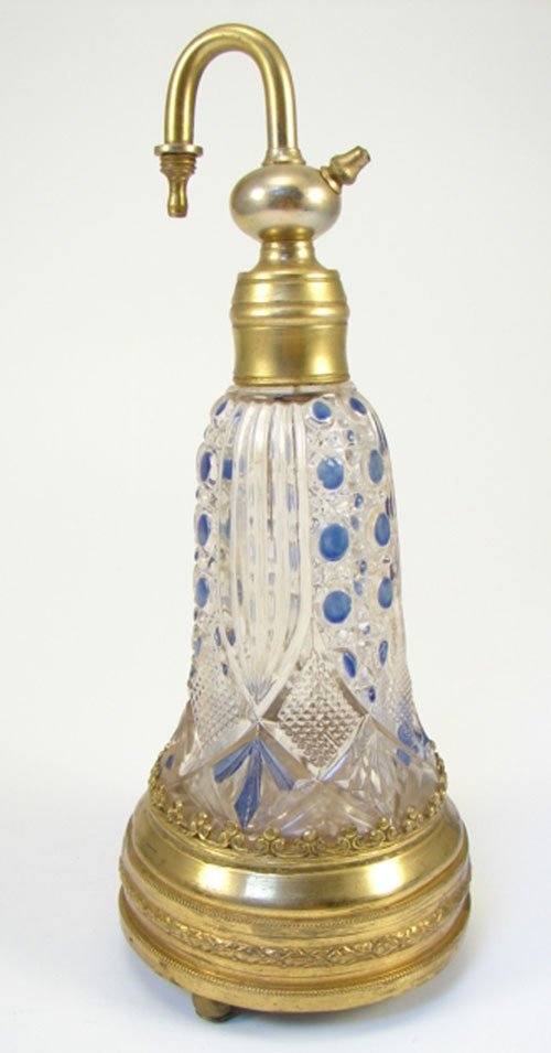 20: Antique French Perfume / Scent Bottle with music bo