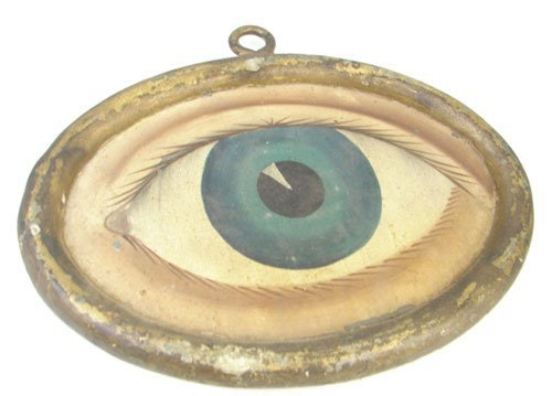 151: Antique Folk Art Eye Trade Sign for Optometrist /