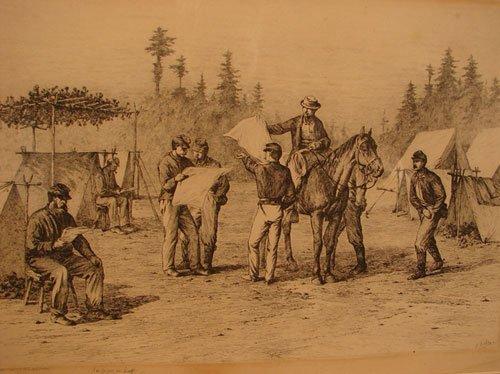 1102: Edwin Forbes American Civil War Scene Print