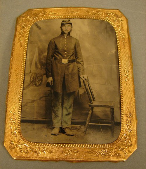 1106: Tintype Photograph of Civil War Soldier
