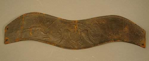 1114: Pre Civil War embossed leather band