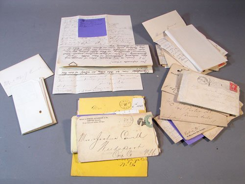 1115: Group of Letters from the Cowell and Sigfried Fam