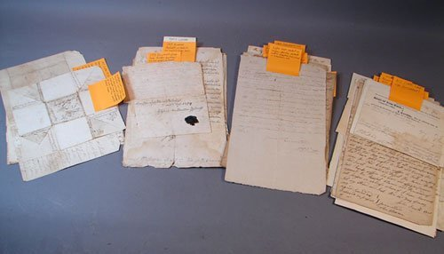 1117: Great Varied Assortment of Early Letters and Docu