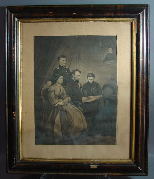 1104A: Antique Print Abe Lincoln
