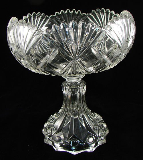 2003: EAPG American Pressed Glass Pedestal Dish. patter