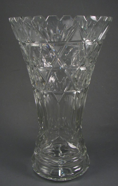 2005: Heavy Cut Crystal Tall Vase. Perfect for a dozen