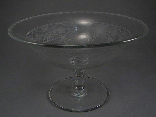 "2015: Heisey Cut Glass Pedestal Bowl 5 1/2""h x 8 5/8""di"