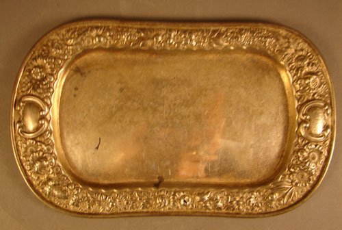 8: Gorham Sterling Repousse Tray with Monogram. 6.91 tr