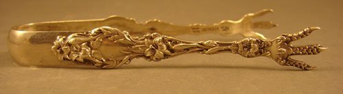 13: Whiting Sterling Art Nouveau Lily Pattern Monogramm