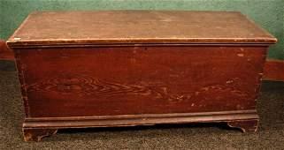 1062: Antique Paint decorated bracket base blanket box.