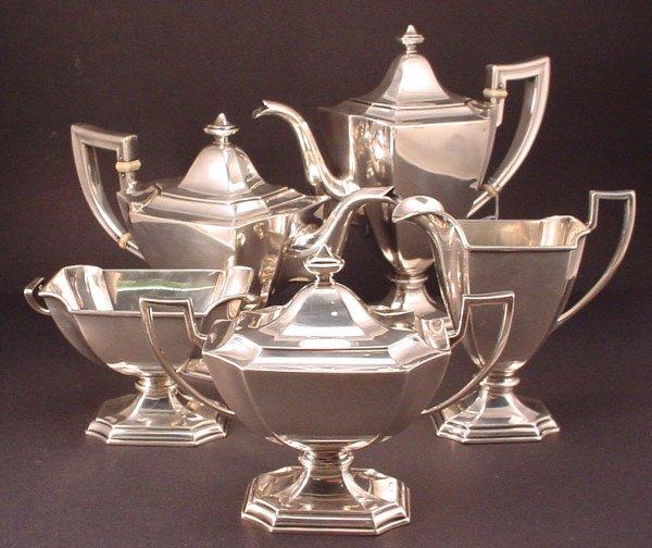 1A: Gorham Sterling Silver 5 piece Coffee/Tea Service i