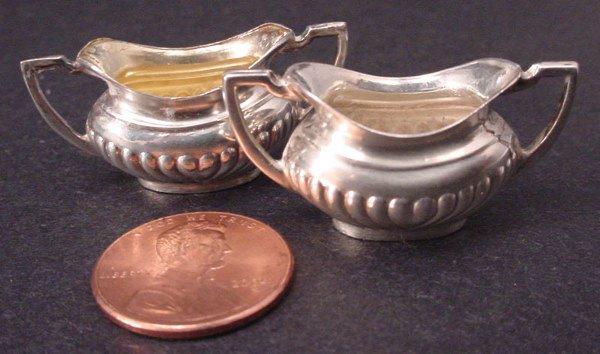 20A: Two English Sterling Silver Miniature open sugar b