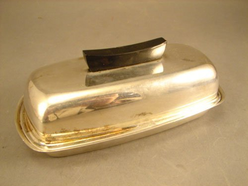 006A: Towle Sterling Silver Butter Dish with ceramic in