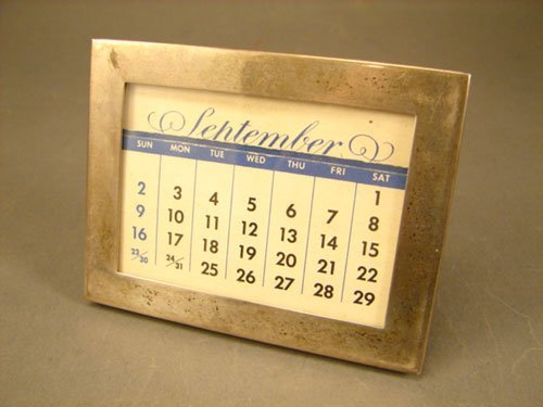 7: Tiffany & Co. Sterling Silver Calendar Holder. 2 7/8