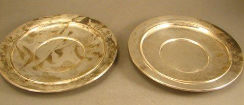 "007A: 5 Gorham Sterling Silver 8 1/4"" diameter Plates w"