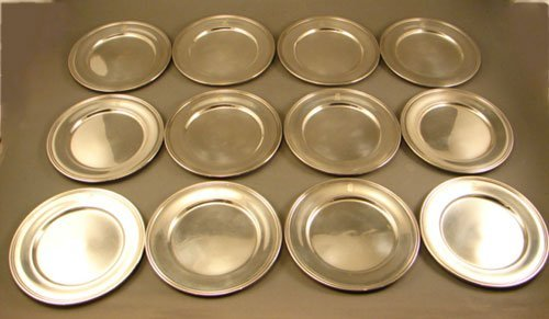 010A: Set of 12 Kirk & Sons Sterling Silver Bread Plate