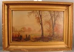John D. Barrow Oil Painting on Canvas, Landscape