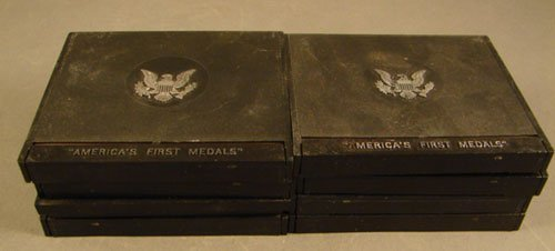 1003: 8 America's First Medals minted in pewter by the