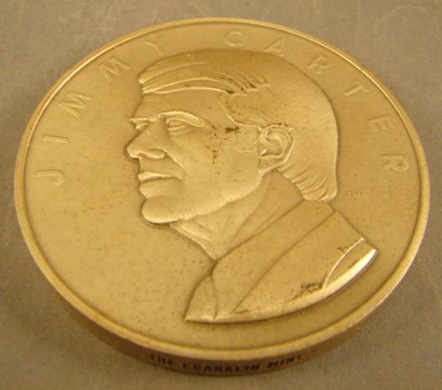 1023: Silver .999 Jimmy Carter Inaugural Medal Franklin
