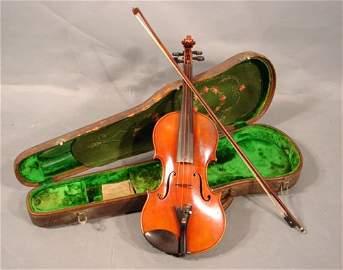 57: Antique / Vintage E. Reinhold Schmidt Violin with b