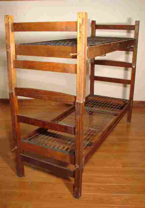 207: U.S. Military Bunk Beds, WWII. Made by Heywood Wak