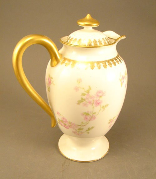 2: Haviland & Co Fine Porcelain Pitcher with cover and