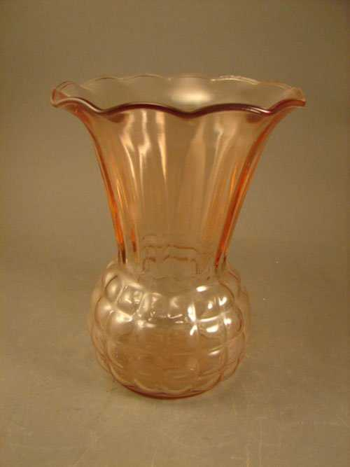 14 Pink Depression Glass Vase 8 34h X 6 12 Diamet