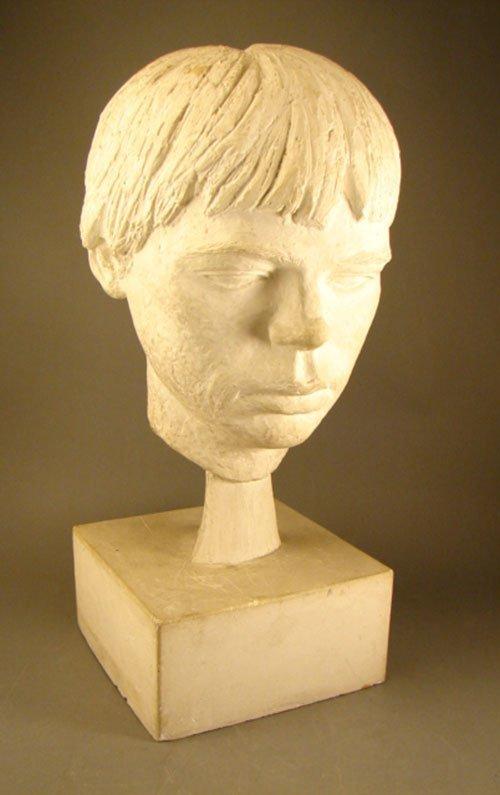 24: Plaster Sculpture Head of a Man. Second half 20th c