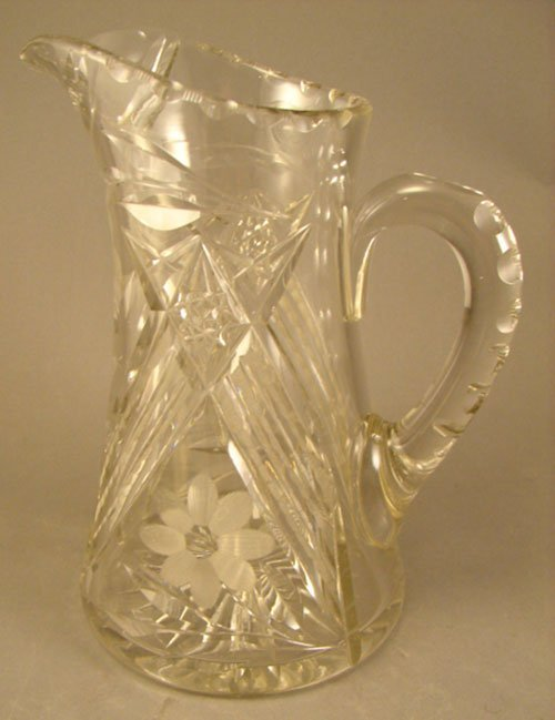 1002: American Brilliant Period ABP Cut Glass Pitcher w