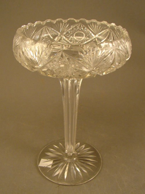 1007: American Brilliant Period ABP Cut Glass Pedestal