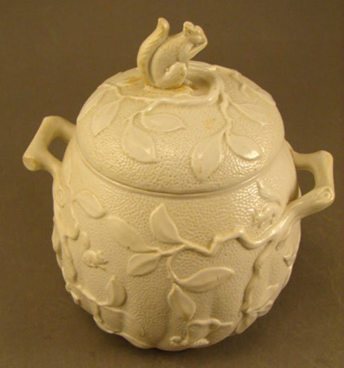 1016: Minton Signed Porcelain Biscuit / Cracker Jar fea